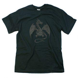Black Dragon on Black T Shirt