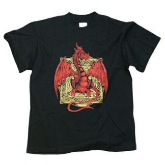 Red and Gold Dragon T Shirt