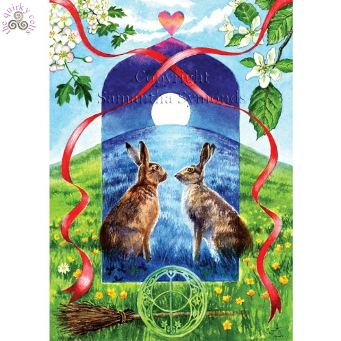 Handfasting Hares Card