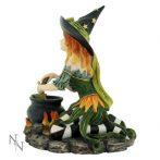 Harlequin Witch Figurine