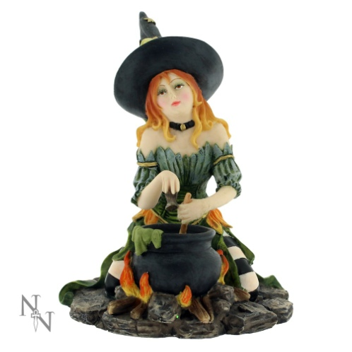 Harlequin Witch Figurine