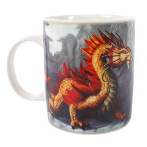 Golden Mountain Dragon Mug