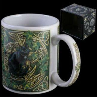 Cat and Pentagram Mug