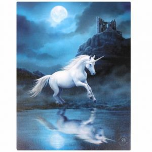 Moonlight Unicorn Canvas Picture