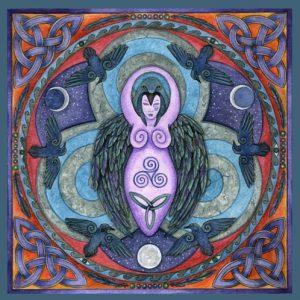 Morrighan Mandala Card