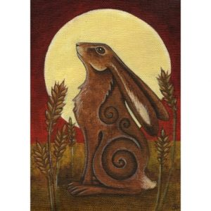 Hare Moon Card