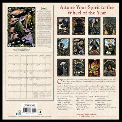 Llewellyns 2018 Witches Calendar back cover