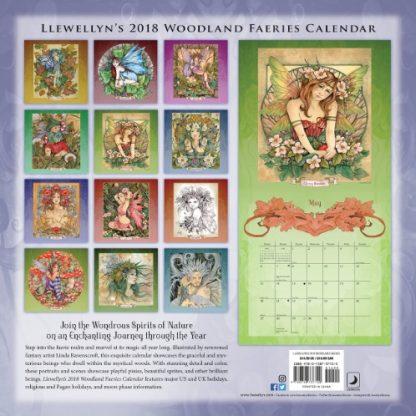 Woodland Faeries 2018 Calendar by Linda Ravenscroft back cover