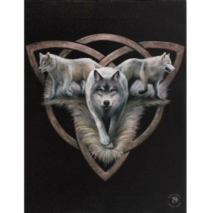 Wolf Trio Canvas Picture