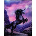 Black Unicorn Canvas Picture
