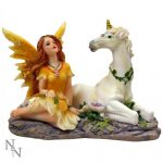 Primrose and Citrine Fairy and Unicorn Figurine