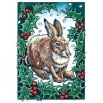 Holly Hare Yule Card