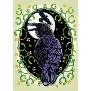 Ravens and Mistletoe Yule Card