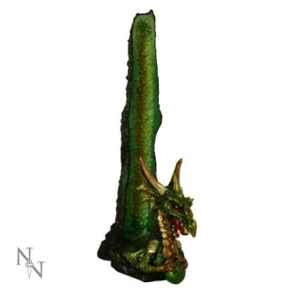Emerald Stalagmite Dragon Incense Holder