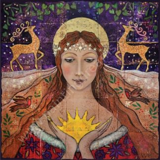 Holding the New Born Sun Yule Card
