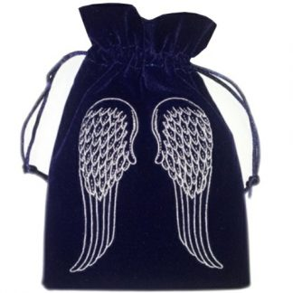 Angel Wings Navy Tarot Bag