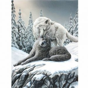 Snow Kisses Canvas Picture
