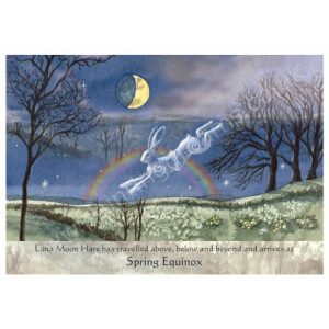 Luna Moon Hare at Spring Equinox Card