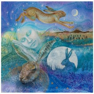 Hare Dreaming Card