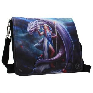 Dragon Mage Embossed Shoulder Bag