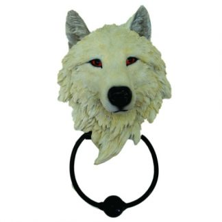 Light Guardian Wolf Door Knocker