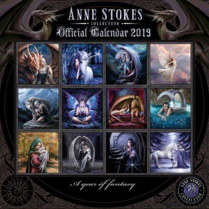 Anne Stokes Calendar 2019 back view