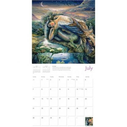 Celestial Journeys by Josephine Wall Calendar 2019 July