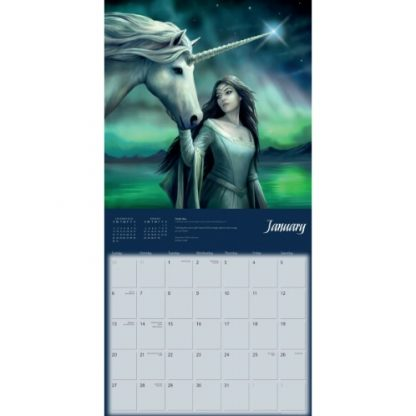 Unicorns by Anne Stokes Calendar 2019 January
