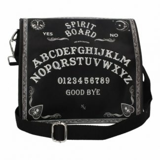 Black and White Spirit Board Embossed Shoulder Bag