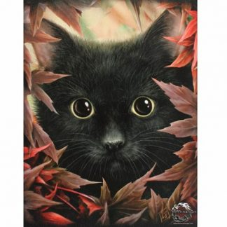 Autumn Cat Canvas Picture