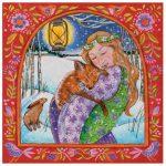Folksy Fox Love Yule Card