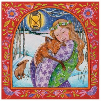 Folksy Fox Love Yule Card