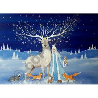The Arrival of Winter Yule Card
