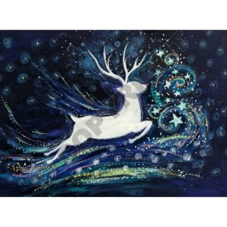 Starry Swirl Yule Card