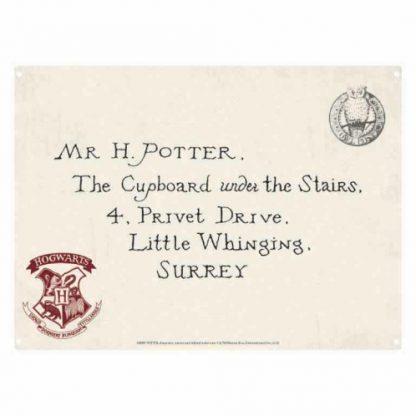 Harry Potter Letter Tin Sign