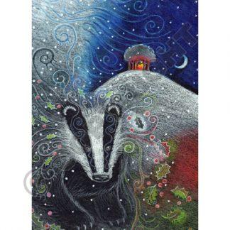 Yule Badger Yule Card
