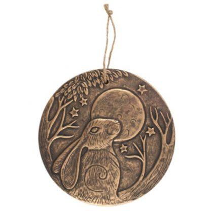 Bronze Terracotta Hare Plaque