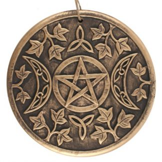 Bronze Terracotta Triple Moon Plaque
