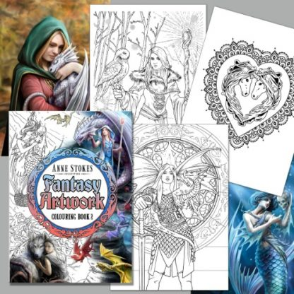 Anne Stokes Fantasy Artwork Colouring Book 2 pages