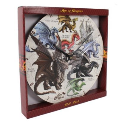 Dragons of the World Clock and box