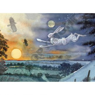 Luna Moon Hare at Summer Solstice Card