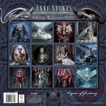 Anne Stokes Calendar 2020 back view
