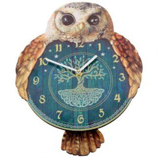 Hootin Tickin Owl Clock
