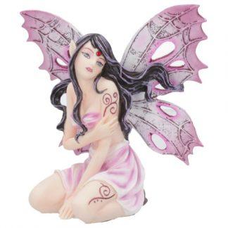 Rose Heart Fairy Figurine