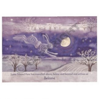 Luna Moon Hare at Beltane Card