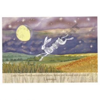 Luna Moon Hare at Lammas Card