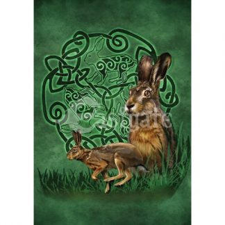 Celtic Hare Card