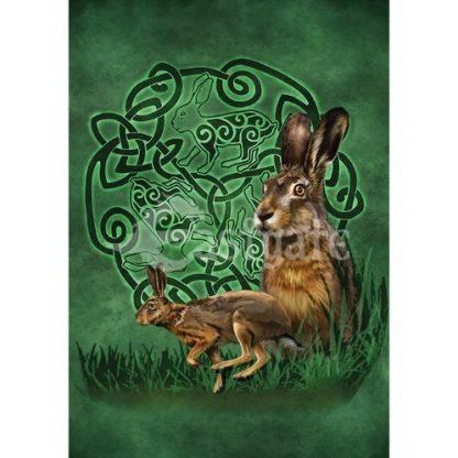 Celtic Hare Card