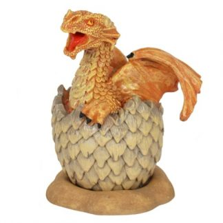 Yellow Hatching Dragon Incense Cone Burner