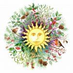 Winter Solstice Roundel Card